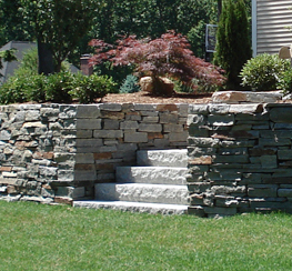 Connecticut retaining walls landscape design - Natural stone wall solutions ...