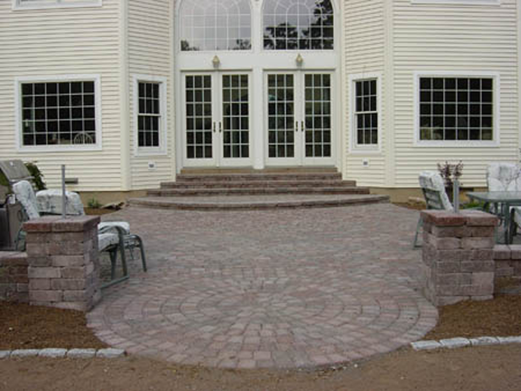 pavers area patio from a with through to stable stone let provide but existing good pin extension water concrete between still way
