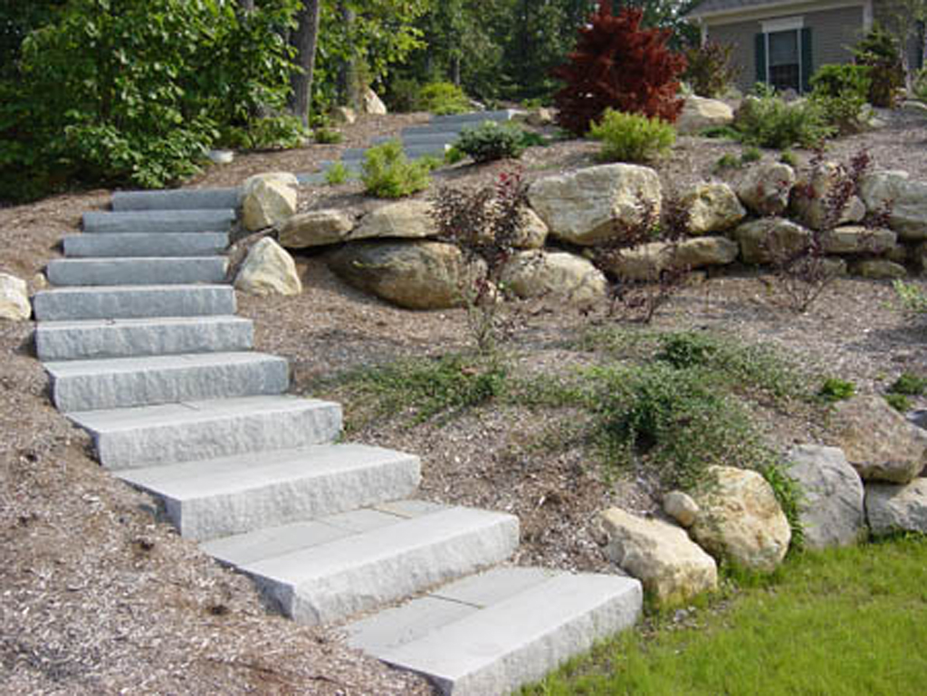 Stone steps stairs landings in connecticut outdoor for Pictures of stone steps