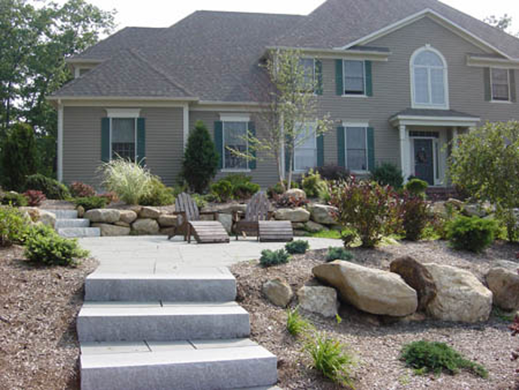 Stone Steps Stairs Landings In Connecticut Outdoor Granite Stairs